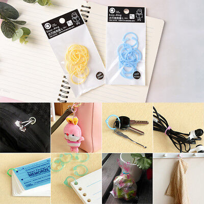 12Pcs Plastic Ring Binder for Spiral Notebook Diary Loose Leaf Book BindingLA