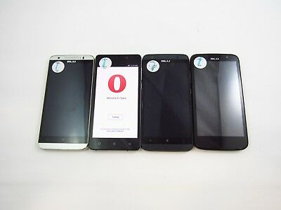 Lot of 4 Various BLU CellPhones Unknown Check IMEI Grade C 4-532