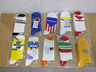 10 x RETRO TEAM CYCLING BIKE GIFT PACK STOCK JOB LOT SOCKS Vintage Made in Italy