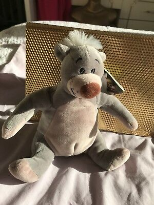 "Disney Soft Plush Toy - The Jungle Book - 'Baloo'. Approx 8"" Tall."