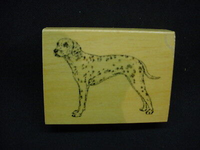 DALMATIAN Rubber DOG STAMP wood STAMPER mounted SPOTTED PUPPY Pet Dalmation k9