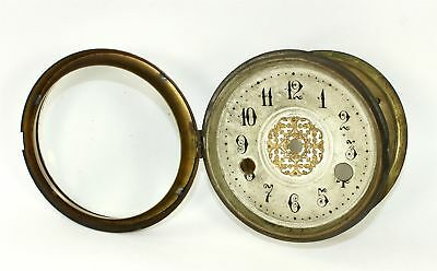 VINTAGE CLOCK DIAL PAN, BEZEL, with GLASS AL163