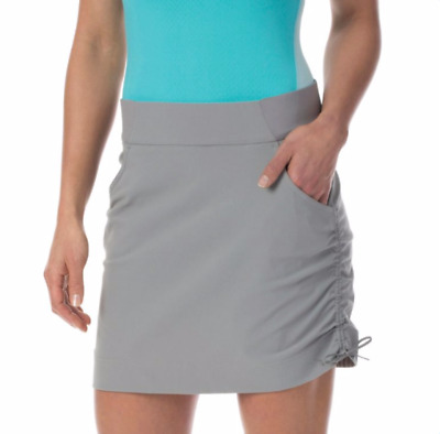 Columbia Womens XS Anytime Casual Skort Skirt w/ Attached Shorts Light Grey