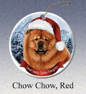 Define Naughty Ornament - Red Chow Chow