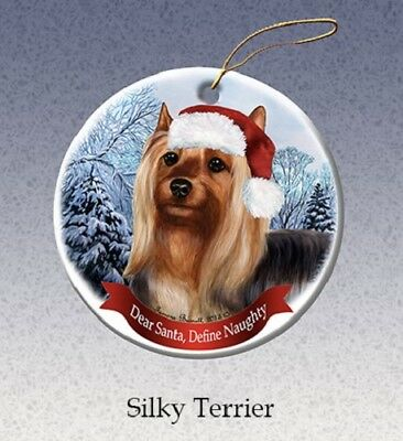 Define Naughty Ornament - Silky Terrier
