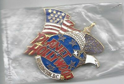 VINTAGE PLANET HOLLYWOOD WASHINGTON D.C. HAT / LAPEL PIN in MINT CONDITION