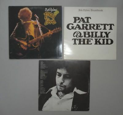 3 Schallplatten Bob Dylan - Vinyl LP Real Live Pat Garrett Billy the Kid Desire