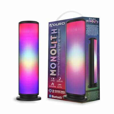 Aduro LED Bluetooth Speaker with Pulsating Lights, Wireless Color Changing