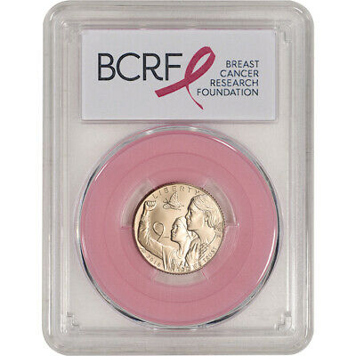 2018-W US Gold $5 Breast Cancer Commemorative BU - PCGS MS69 First Strike Pink