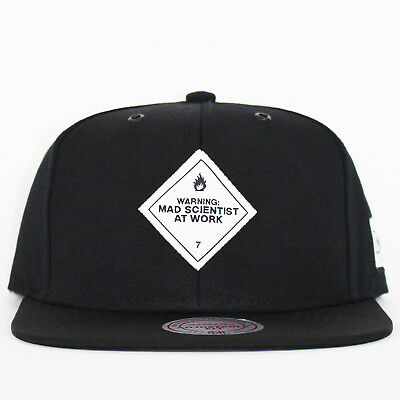 more photos d42b1 dbf4a Mitchell   Ness x Capology Mad Scientist At Work Black Snapback Cap