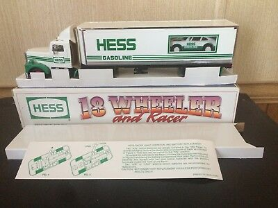 1992 Hess Truck 18 Wheeler And Racer In New Condition