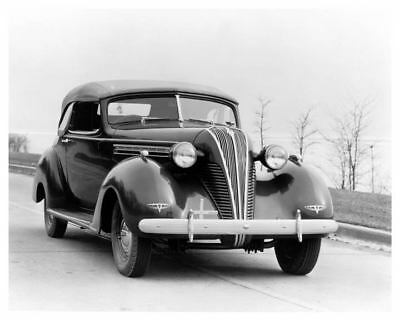1937 Hudson Series 75 Eight Conv Brougham Factory Photo c5959-3BHADM