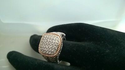 .925 Sterling Silver High End Cz Ring