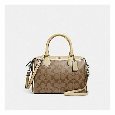 dcdba5ee7db09 New Coach F58312 Mini Bennett Satchel In Signature Brown Khaki Vanilla NWT   295