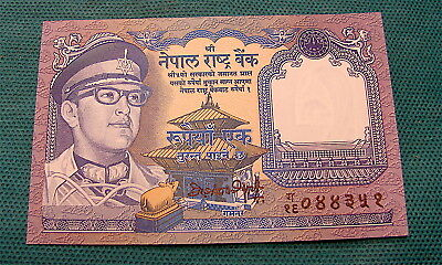 NEPAL 1 Rupee P - 22; UNC from 1974, Mount Everest and Musk Deer; FREE SHIPPING