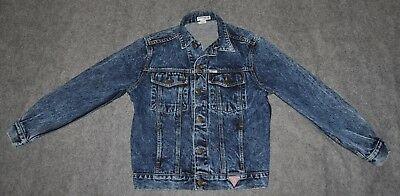 vintage GUESS GEORGES MARCIANO TRUCKER JEAN JACKET 80s Made USA wmns S Jacket