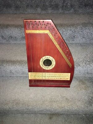 The Bell Harp Company ZITHER Harp Antique Music MANDOLIN GUITAR HARP Instrument.