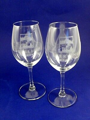 Sterling Vineyards Napa Valley Logo Wine Tasting Glasses - Set Of Two
