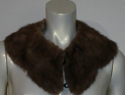 "VINTAGE Taupe Mink Scalloped Collar with Hooks 28"" x 4.5"""