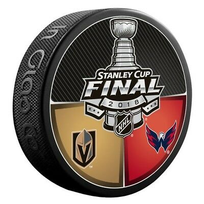 2018 NHL Stanley Cup Final Dueling Puck Vegas Golden Knights Washington Capitals