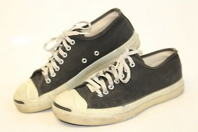 Vintage Converse Jack Purcell USA MADE Mens 7.5 Canvas Sneakers OG Shoes cr