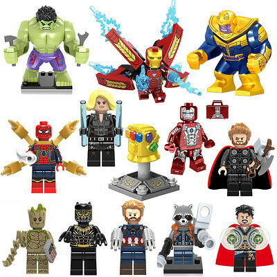 Lego Marvel Minifigures Gunuine Super Heroes Black Panther Avengers Mini Figure