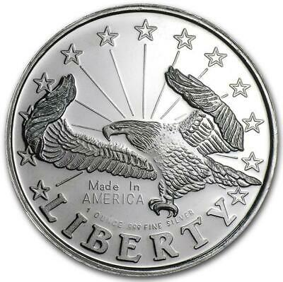 1 Once Argent Liberty Eagle 999,99