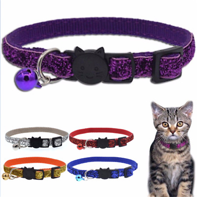 Adjustable With Bell Safety Personalized Breakaway Cat Collar Neck Strap for Cat