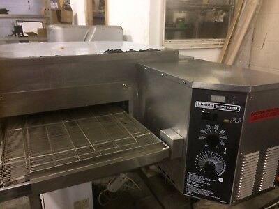 prod gas oven id pizza al lincoln machinery second deck double hand conveyor low profile