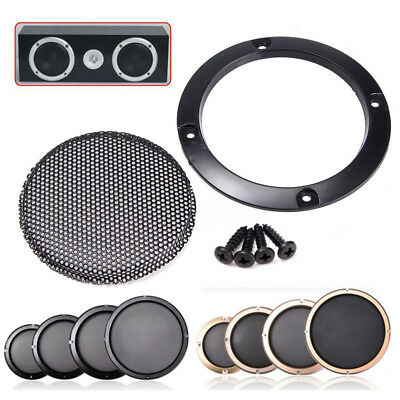 3'' 5'' 6.5'' 10'' Matt Type Black Circle Speaker Cover Decor protective Grille