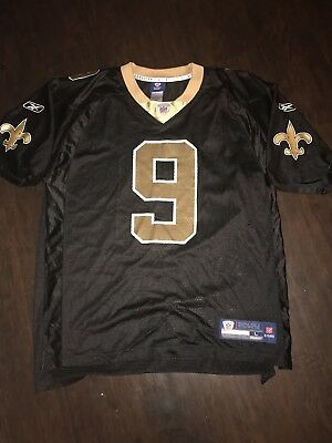 DREW BREES NEW Orleans Saints Jersey Reebok Black Gold Mens 2XL XXL ... 5774d3ee2