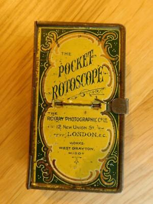 Pocket Rotoscope Miniature Stereo Slide Viewer 1910 & 15 Stereo View Cards c1910