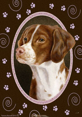 Large Indoor/Outdoor Paws Flag - Brittany 17071