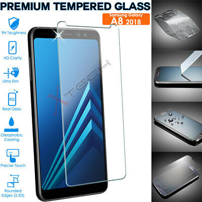 Genuine TEMPERED GLASS Screen Protector Cover For Samsung Galaxy A8 2018 SM-A530