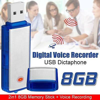 8GB USB Audio Recorder Dictaphone Voice Recorder SPY Pen Stick Blue Support WAV