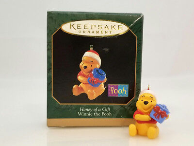 Hallmark Miniature Ornament 1997 Honey of a Gift - Winnie the Pooh - #QXD4255-DB