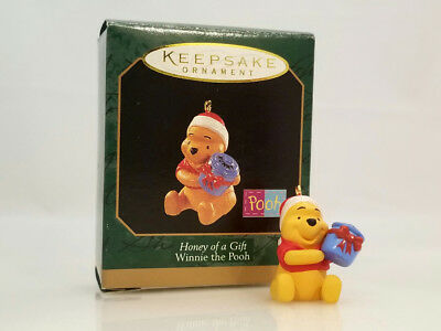 Hallmark Miniature Ornament 1997 Honey of a Gift - Winnie the Pooh - #QXD4255