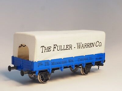Märklin 54756  Scale 1 Maxi Low Side Car US Flat car Fuller Warren with cover