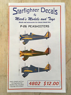 P-26 Peashooters US Army Air Force  1:48 Starfighter Decals