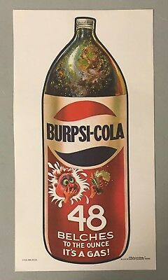 1973 Topps Wacky Packages 10x19 NO FOLDS Poster BURPSI-COLA w/ TOPPS VAULT COA