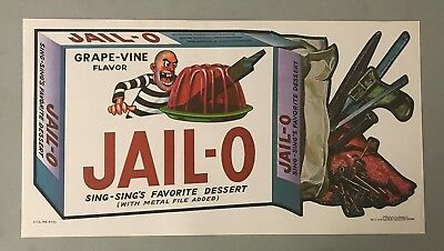 1973 Topps Wacky Packages 10x19 NO FOLDS Poster JAIL-O w/ TOPPS VAULT COA