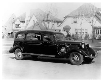 1934 Studebaker Superior Hearse Factory Photo c7210-EXWQZH