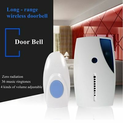 Wireless Door Bell 36 CHIME Home Cordless Portable 20M Range Digital Doorbell