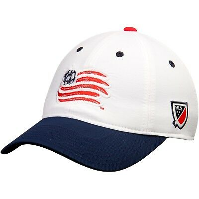 b9047f9c7c909 NEW ENGLAND REVOLUTION adidas White/Navy Authentic Team Slouch Adjustable  Hat
