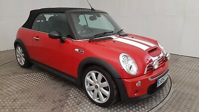 2007 Red Mini Cooper S Auto Convertible 6 Speed Automatic 1.6 Petrol Red