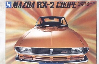 1970 Mazda RX2 S122A Rotary Coupe FIRST Brochure wz2593