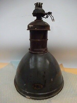 ancienne lampe industriel PBL suspension