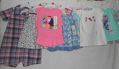 Mixed Big Lot of Girls Size 24m New Tanks Shirts Shorts One Piece Summer HUGE
