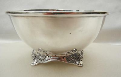 Vtg Hallmarked ACN Mid Century Mexico Solid Sterling Silver Footed Bowl 183gms