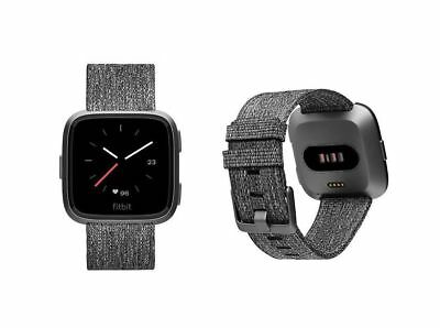 Fitbit Versa Smartwatch - Charcoal Special Edition - One Size (S & L Bands)